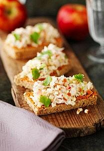 Crab & Apple Toasties