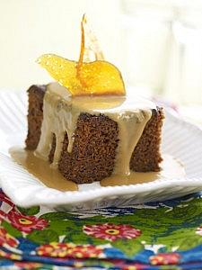 Sticky Toffee Squares with Toffee Sauce